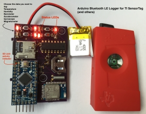 Arduino Bluetooth LE Logger for TI SensorTag (and others)